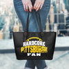 Hardcore Pittsburgh Football Fan Leather Tote