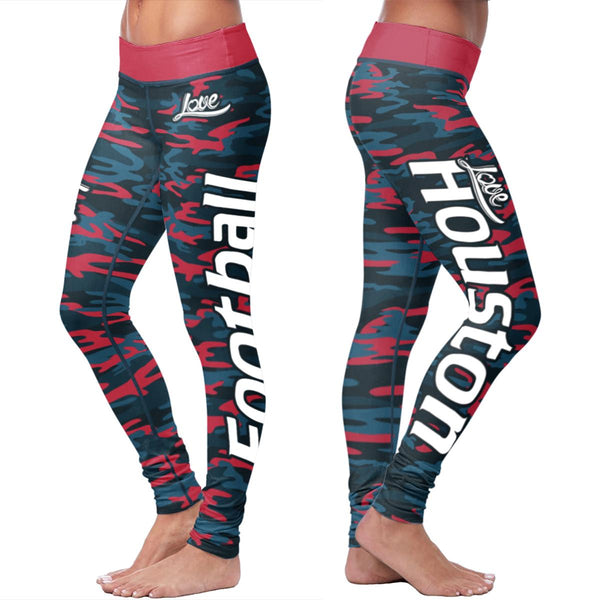 Houston Ugly Christmas Classic Football Leggings