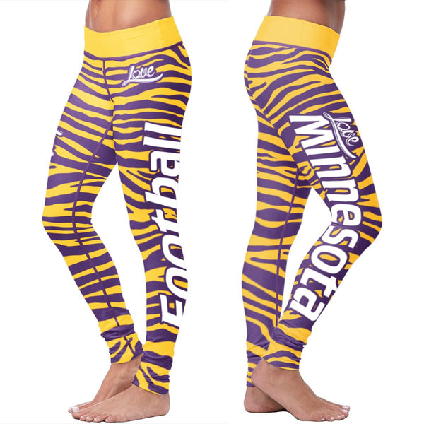 Minnesota Flower Football Capris