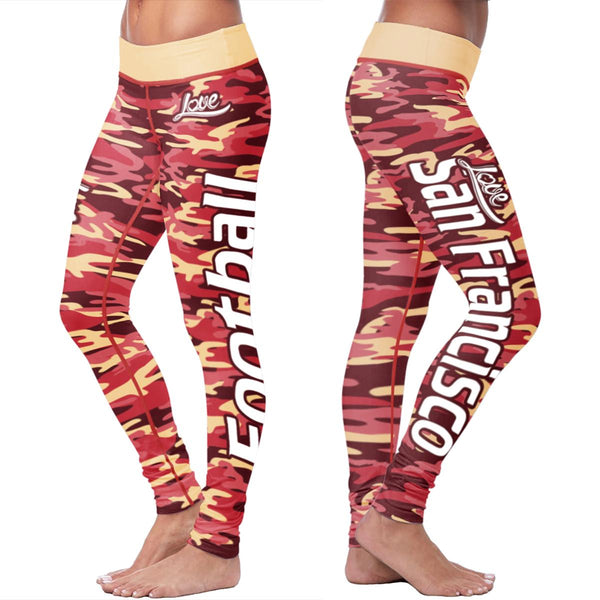 San Francisco Football Camo Leggings