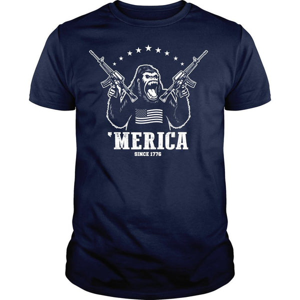 'Merica King Kong Shirt (Navy Blue)