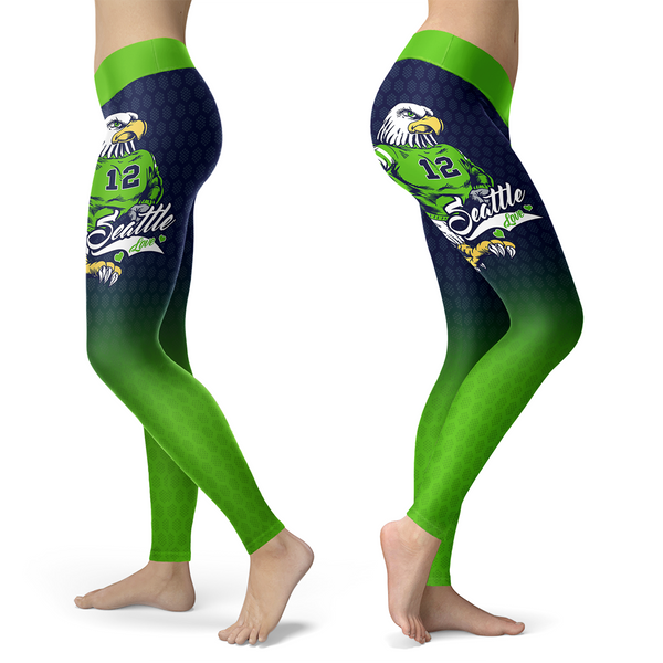 Seattle Honeycomb Football Capris