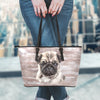 Loyal Pugs Leather Tote Bag