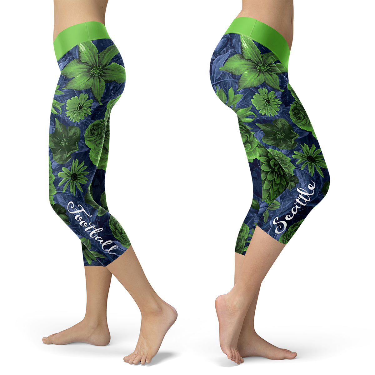 Seattle Flower Football Capris