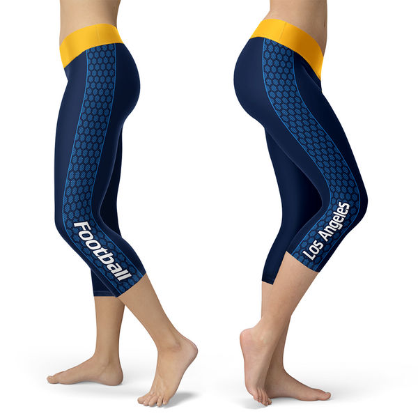Los Angeles Chargers Lovin Kisses Football Capris