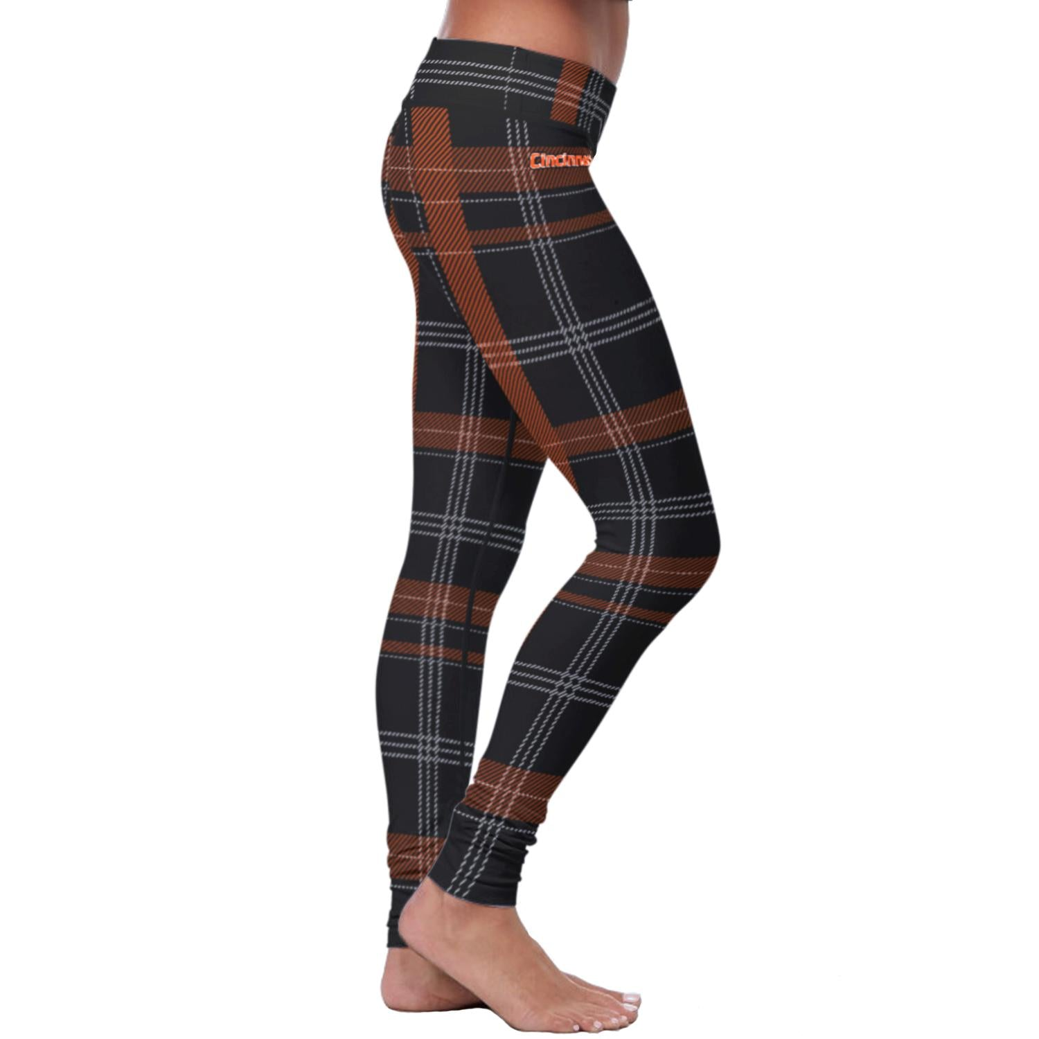 Cincinnati Football Plaid Leggings