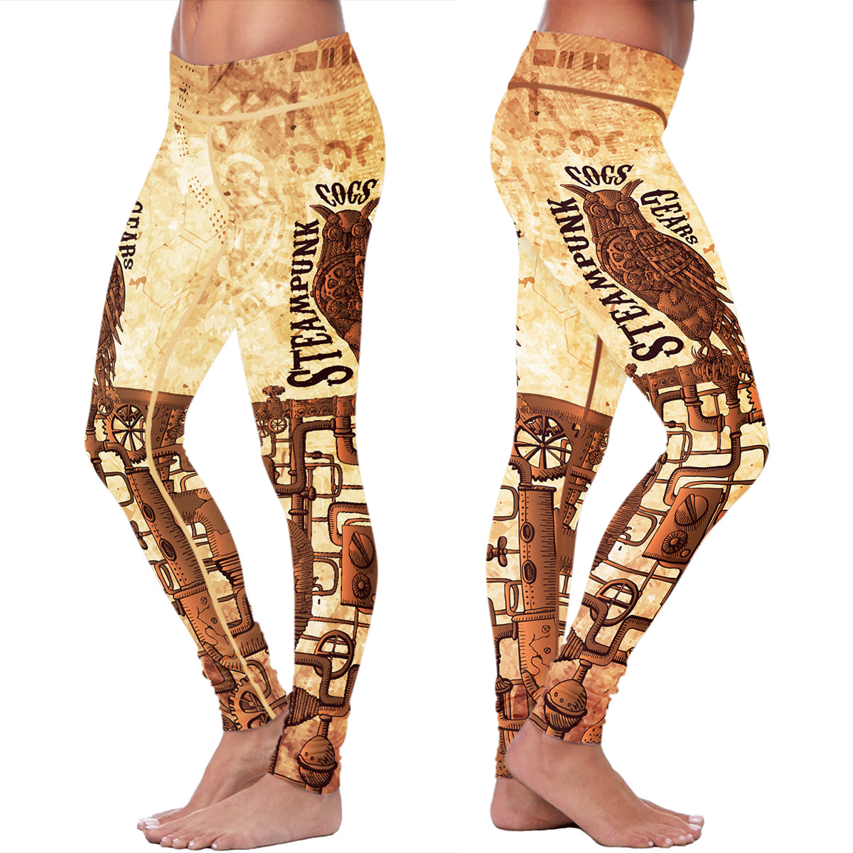 Steampunk Owl Leggings
