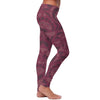 Burgundy Native Pattern Leggings