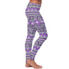 Purple and Gray Native Bird Pattern Leggings