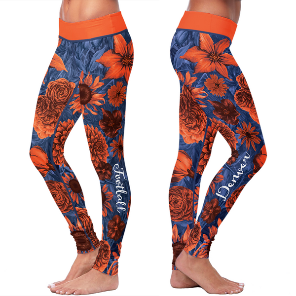 Denver Honeycomb Stripe Football Leggings