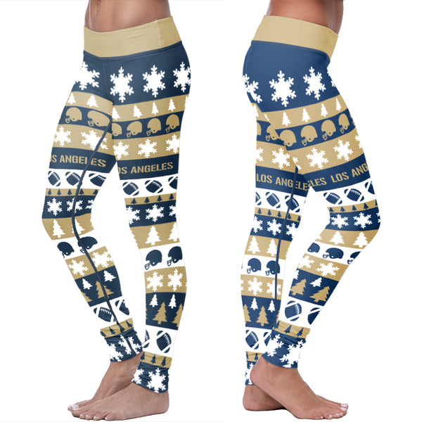 Los Angeles Rams Flower Football Capris