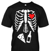 Skeleton Beer Pizza Premium Cotton Shirt