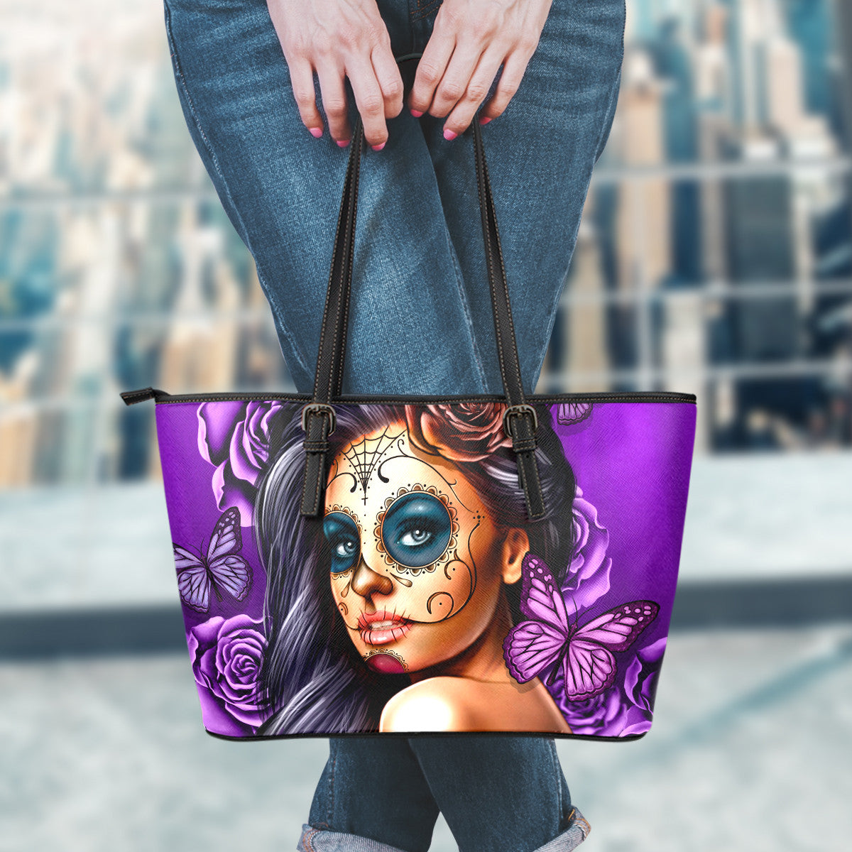 Calavera Leather Tote