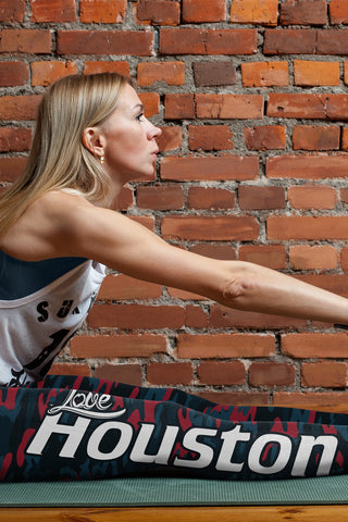 Love Houston Football Print All Over Leggings in Camo Design