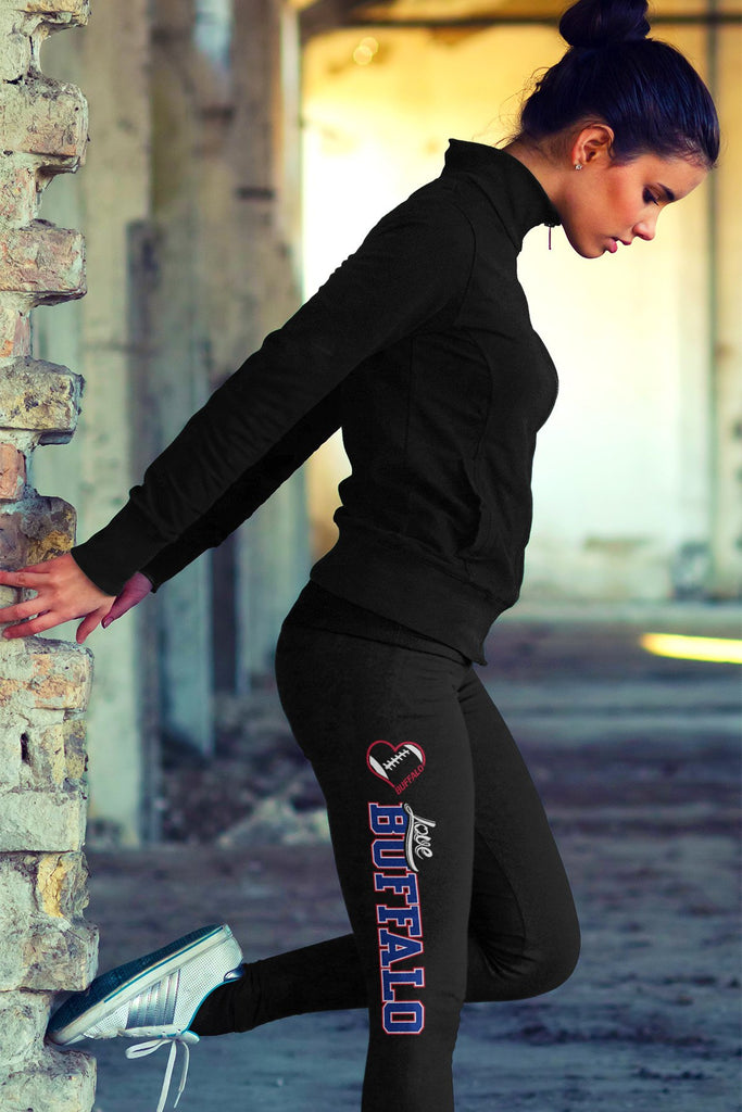 Love Buffalo Football Cotton Leggings