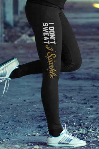 Cotton Leggings - Dont Sweat Sparkle