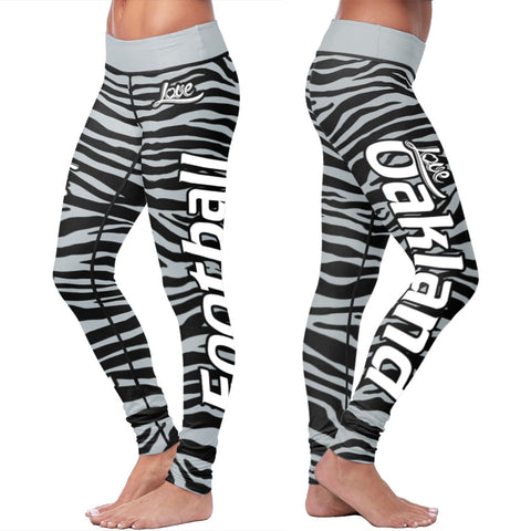 Love Leggings Striped - Oakland Football