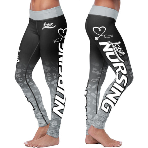 Love Cincinnati Baseball Print All Over Leggings in Classic Design