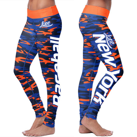 This Nurse Loves New York Baseball Leggings in Print All Over Design