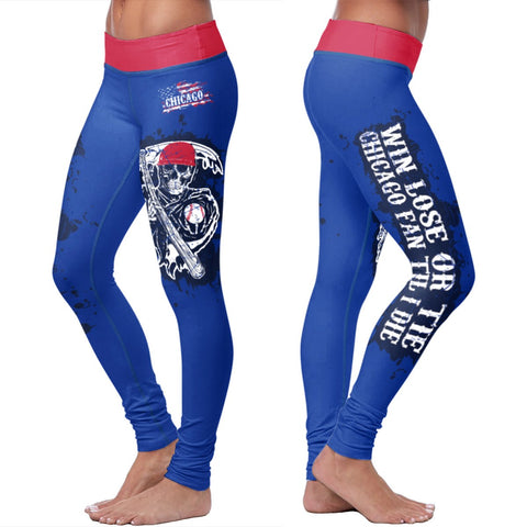 Win Lose Tie Leggings - Chicago Baseball