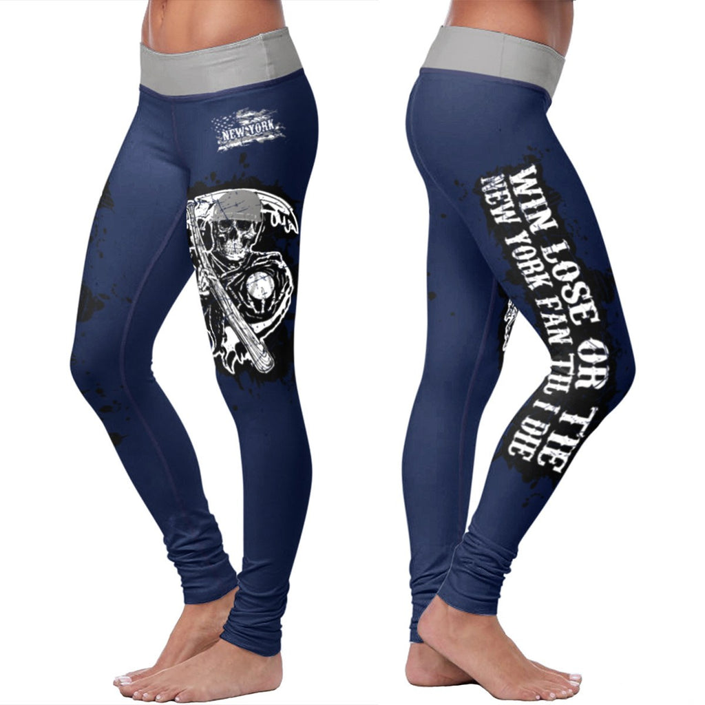Win Lose Tie Leggings - New York Baseball