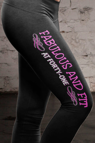 Fabulous at 41 Cotton Leggings Yoga Pants