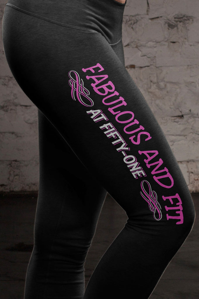 Fabulous at 51 Cotton Leggings Yoga Pants