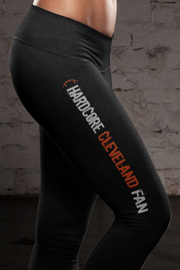 Hardcore Cleveland Football Cotton Leggings