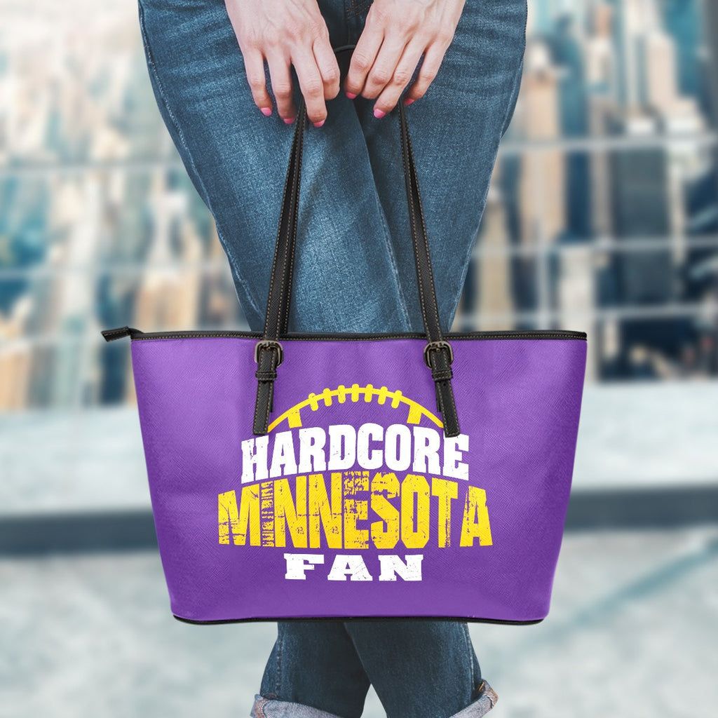 Hardcore Minnesota Football Fan Leather Tote