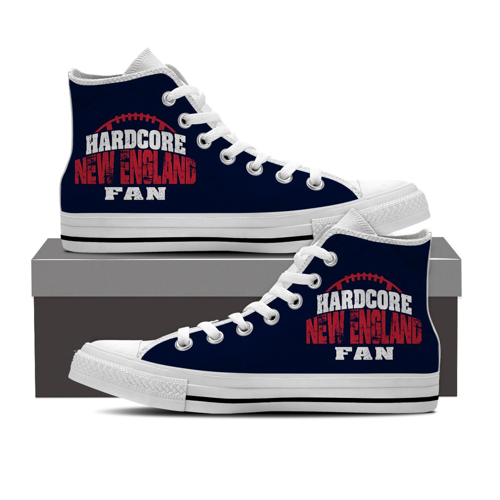 Hardcore New England Football Men's High Top Shoes