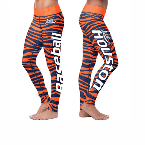 Love Leggings Striped - Houston Baseball