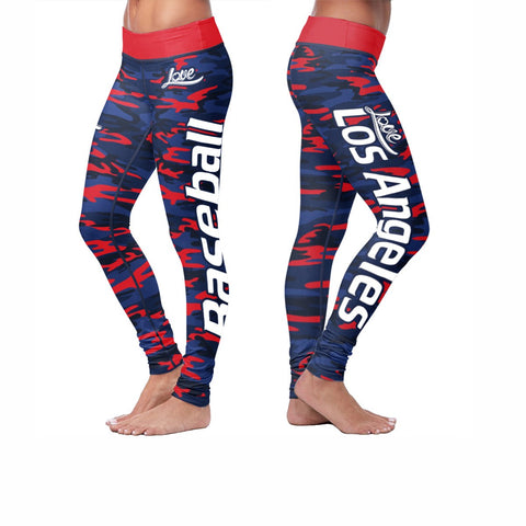 Win Lose Tie Leggings - Los Angeles Baseball