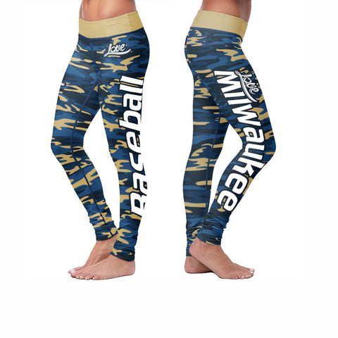 Love Leggings Camo - Milwaukee Baseball
