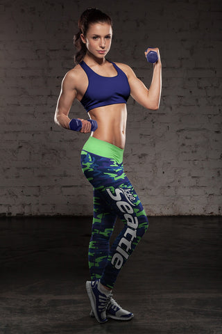 Love Tampa Bay Baseball Print All Over Leggings in Classic Design