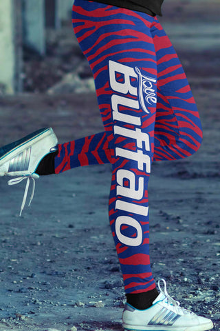Hardcore Buffalo Football Cotton Leggings