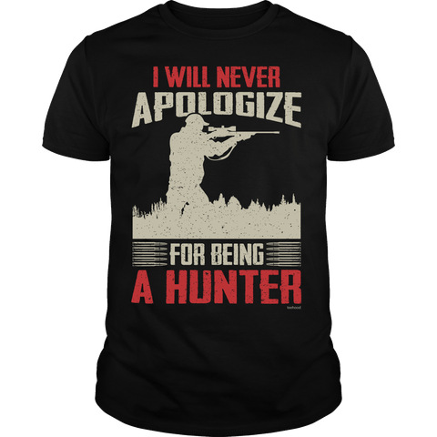 Hunter - Never Apologize Rifle Tee