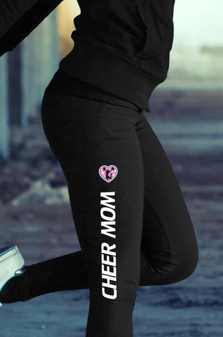 Cotton Leggings - Volleyball Mom Girl