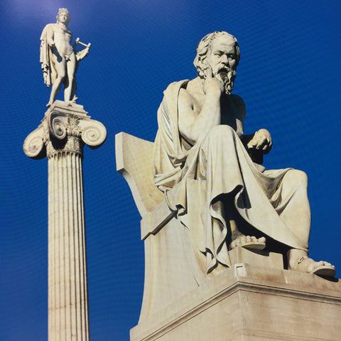 Athens book showing Socrates on Pediment
