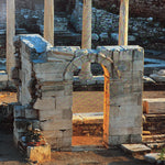 Architectural ruins shown on full frame from Athens book.