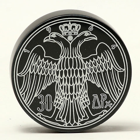 Greek Drachma marble paperweight