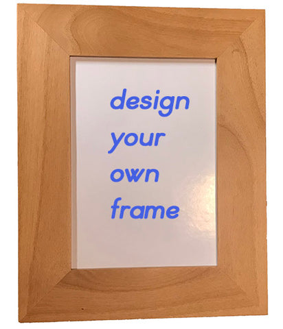 Design your own Greek or English or both picture frame