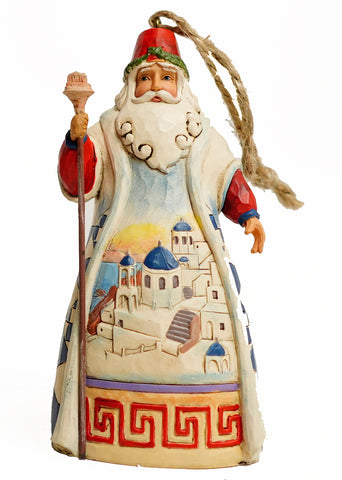 Jim Shore Heartwood Creek Greek Santa