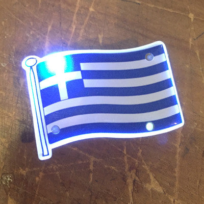 Greek Flag blinkie light