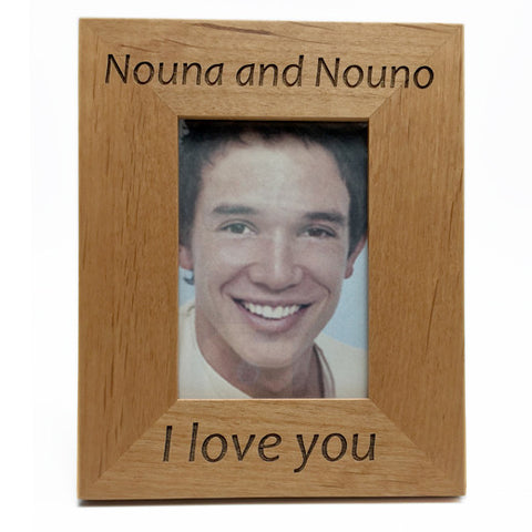 Nouna and Nouno (Godmother and Godfather) Greek Picture Frames in English
