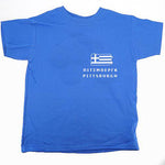 Pittsburgh Pennsylvania State Map Greek Flag T-Shirt
