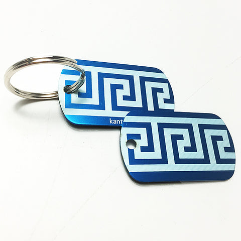 Greek key chain