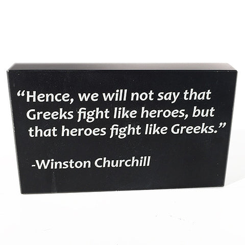 Winston Churchill, OXI Day, Marble Paperweight (single sided Greek or English)