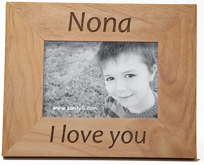 nona and nono godmother and godfather greek picture frame in english