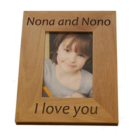 Nona and Nono (Godmother and Godfather) Greek Picture Frame in English