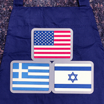 American, Greek and Hebrew Flag Apron